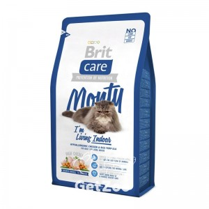 Brit Care Cat MONTY I am Living INDOOR Сухой корм с курицей для домашних кошек
