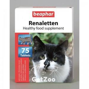 Beaphar (Беафар) Реналеттен пищевая добавка от мочекаменной болезни для кошек, 75 табл.