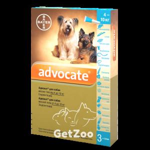 ADVOCATE комплексные капли для собак от 4 до 10 кг от блох, клещей и глистов, 1 пипетка
