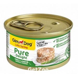 GimDogLittle Darling Pure Delight Курица с ягнёнком консервы для собак