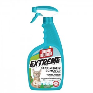 Simple Solution Cat Extreme Stain and Odor Remover для нейтрализации запахов и пятен, 945 мл