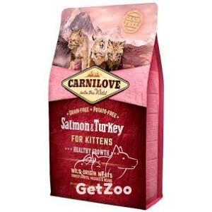 Carnilove Salmon & Turkey Сухой беззерновой корм с лососем и индейкой для котят