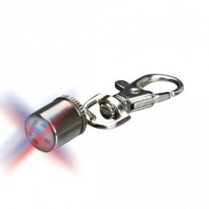 Брелок-фонарик c карабином хром д/кош. 1см