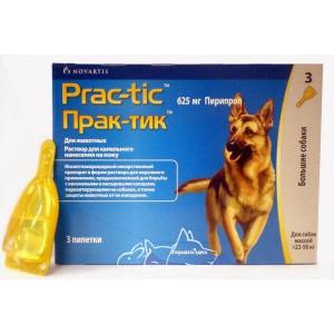 Prac-tic (Прак-тик) капли для собак крупных пород весом от 22 до 50 кг (1 пипетка)