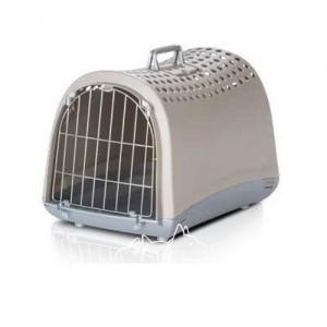 Imac Linus АЙМАК ЛИНУС переноска для собак и кошек, пластик, цвет светло-серый 50х32х34,5 см.