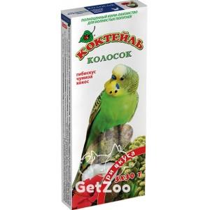 Колосок Коктейль для волн. попугаев (гибискус, чумиза, кокос) 90г