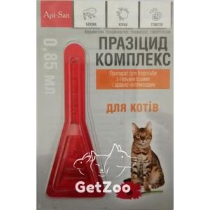 Празицид Комплекс капли от блох, клещей и глистов для кошек