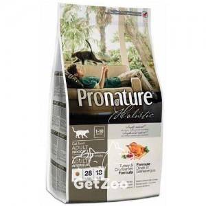 Pronature Holistic Сухой корм с индейкой и клюквой для кошек