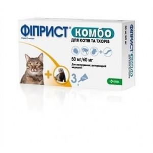 Фиприст Комбо капли на холку для хорьков и кошек от блох, вшей, клещей, 1 пипетка