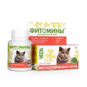 Veda (Веда)  Фитомины для кастрированных котов и стерилизованных кошек, 100 табл.