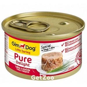 GimDogLittle Darling Pure Delight Тунец и говядина консервы для собак