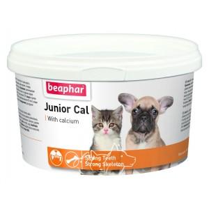 Beaphar Junior Cal (Юниор каль) Витаминно-минеральная добавка для щенков и котят, 200 г