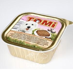 TOMi Паштет с телятиной и ягненком для собак, 150 г