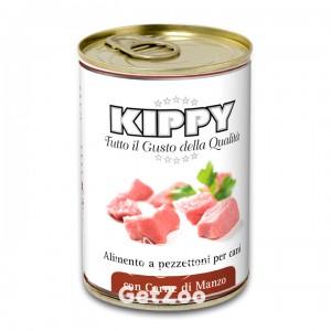 Kippy Киппи Паштет с кусочками мяса говядины консервы для собак, 400 г