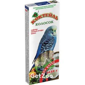Колосок Коктейль для волн. попугаев (сафлор, лесная ягода, кокос) 90г