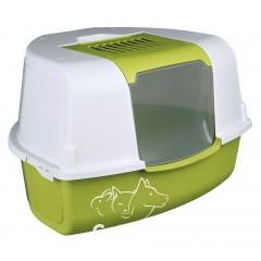 Trixie Tadeo Open Top Угловой туалет с фильтром и лопаткой для кошек, 58х38х50/50 см