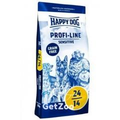 HAPPY DOG Profi-Line Sensitive 24/14 Сухой корм Птица/лосось, 20кг