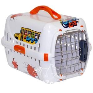 Moderna ГРАФИТИ 1 переноска для собак с металлической дверью IATA 51х31х34 цвет оранж
