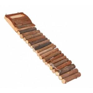 Trixie Лестница деревянная для грызунов 27х7 см