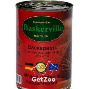 Baskerville Курица с сердечками консервы для кошек