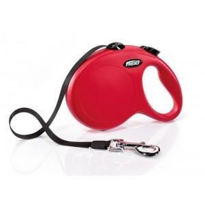 Flexi New Сlassic Tape L Поводок-рулетка для собак до 50 кг, ремень, 5 метров