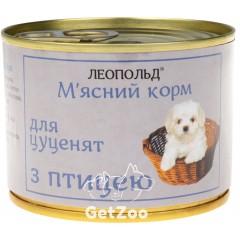 Леопольд Влажный корм для щенков с птицей, 190 г
