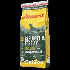 Josera Geflugel & Forelle Сухой беззерновой корм с птицей и форелью для собак