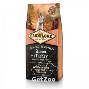 Carnilove Puppy Large Breed Salmon & Turkey Беззерновой корм с лососем и индейкой для щенков крупных пород