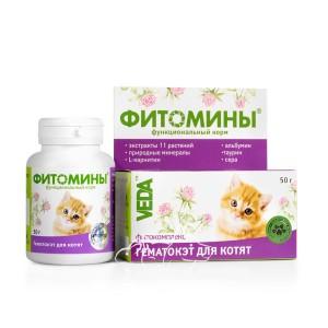 Veda (Веда) Фитомины Гематокет для котят, 100 шт.