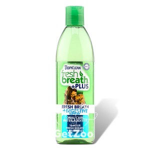 ТropiСlean (Тропиклин)Свежее дыхание добавка в воду с пробиотиком для кошек и собак, 473 мл