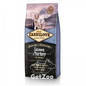 Carnilove Puppy Salmon & Turkey Беззерновой корм с лососем и индейкой для щенков