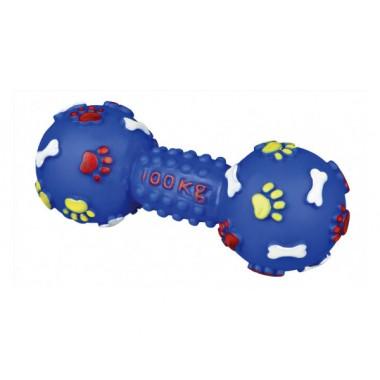 Trixie 3361 Гантель с пищалкой - игрушка для собак, винил