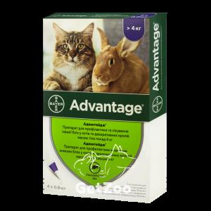 Bayer Advantage Адвантейдж Капли от блох для кошек и кроликов свыше 4 кг