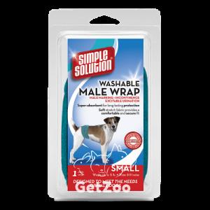 Simple Solution WASHABLE WRAPFOR MALE DOGS Влагопоглощающий гигиеническийпоясок для кобелей