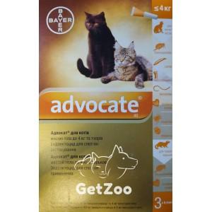 Advocate Адвокат капли для кошек до 4 кг