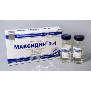 Максидин 0,4 (Maxidin 0,4) - Профилактика и лечение вирусных инфекций у мелких домашних животных, 5 мл