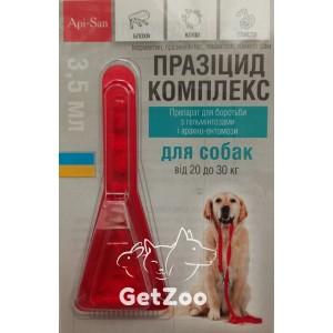 Празицид КОМПЛЕКС для собак от 20 до 30 кг от глистов, блох и клещей, 1 пипетка