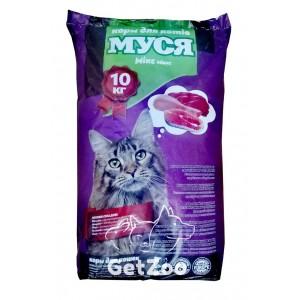 Муся Сухой корм Микс для кошек, 10 кг