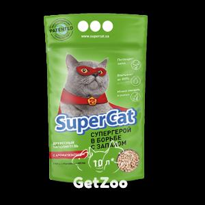 SUPER CAT древесный наполнитель c ароматизатором 3 кг (10 л)