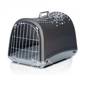 Imac Linus АЙМАК ЛИНУС переноска для собак и кошек, пластик, цвет темно-серый 50х32х34,5 см.