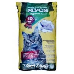 Муся Сухой корм с курицей для кошек, 10 кг