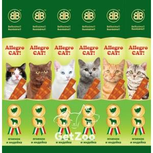 B&B Allegro Cat Колбаски с ягнёнком и индейкой для кошек, 1 шт.