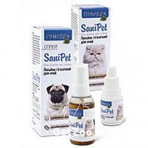 Природа SaniPet Лосьон гигиенический для глаз для собак и кошек