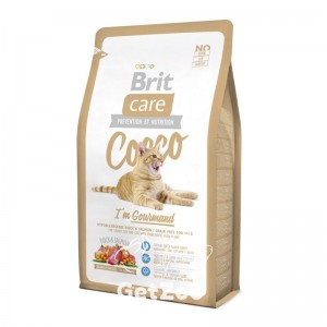 Brit Care Cat COCCO I am Gourmand Сухой корм с уткой и лососем для привередливых кошек