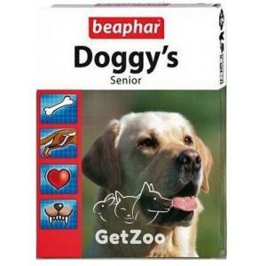 Beaphar Doggys Senior витамины для собак старше 7 лет, 75 табл.