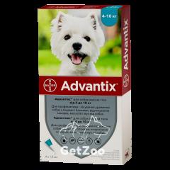 Advantix Адвантикс Капли от блох и клещей для собак от 4 кг до 10 кг