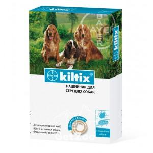 Kiltix (Килтикс) Ошейник против блох и клещей для средних пород собак 48 см