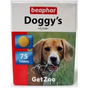Beaphar Doggy's Liver витамины в виде лакомства с печенью для собак, 75 табл.