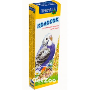 Колосок для попугая луговые травы 140г