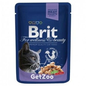 Brit Premium Кусочки с треской консервы для кошек